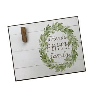 📦5 FOR $25📦NWOT Rustic Farmhouse Wall Plaque